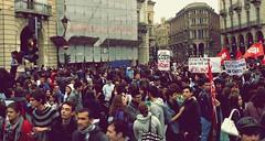 Manifestazione Studentesca Torino 8.10.10 (Rebeca Tabara) Tags: torino manifestazione studentesca manifestazionestudentescatorino81010