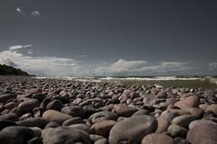 Stone (Phunktions R!) Tags: ocean blue sky people brown beach stone clouds strand germany deutschland coast meer leute himmel wolken wave steine braun blau welle kste