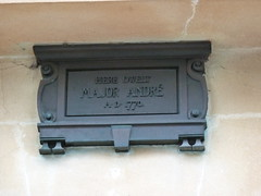 Photo of John Andre bronze plaque