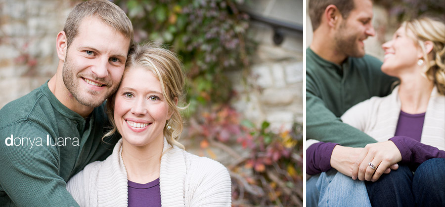 Sweet married couple pose for portraits in the southern Twin Cities metro