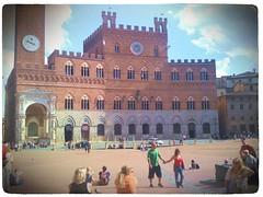 Auf dem Campo in Siena
