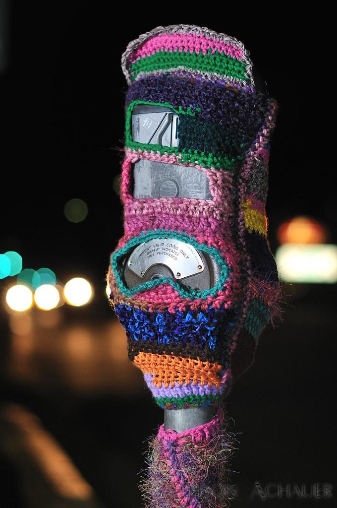 Yarn Bombing on Figueroa