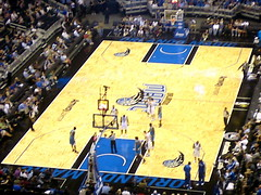 View from our seats @ Amway Center (msnguy81) Tags: basketball florida arena nba orlandomagic centralflorida orlandoflorida inauguralgame 101010 nbabasketball amwaycenter