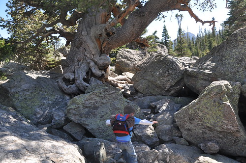 Boulder Scrambling at Lake Haiyaha