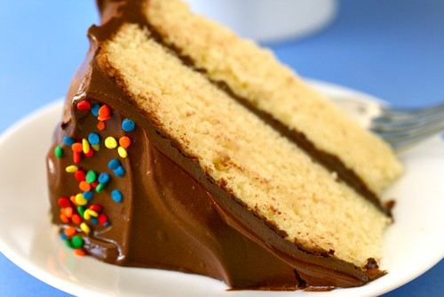 Yellow Butter Cake with Chocolate Frosting | Annie's Eats