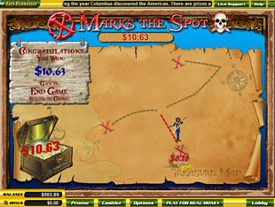 free X Marks The Spot slot bonus feature