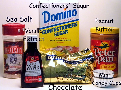 Recipe Ingredients for Peanut Butter Cups