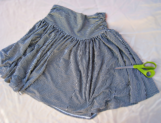 refashion a jersey skirt DIY 1