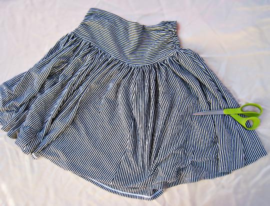 refashion a jersey skirt DIY 1