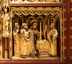 Lichfield, Staffordshire, cathedral, lady chapel, altar, detail (groenling) Tags: wood uk england bird saint joseph temple candle cathedral mary jesus birth carving altar presentation staffordshire nativity woodcarving lichfield staffs ladychapel nativitas bvmandstchad
