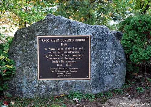 Saco River Bridge Plaque