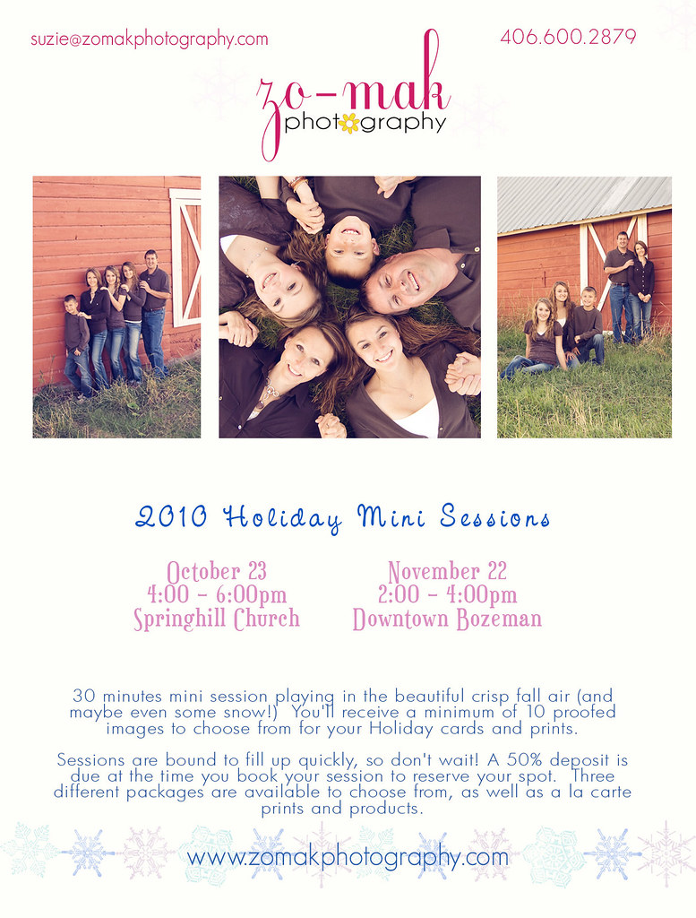 2010 Holiday Mini Session info_october