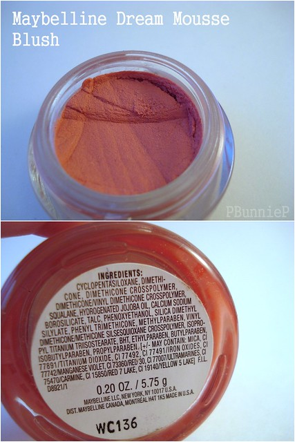 Dream Mousse Blush-ingredients