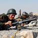 Afghan National Army Officer Candidtes shoot M-16s (12 Oct 10)