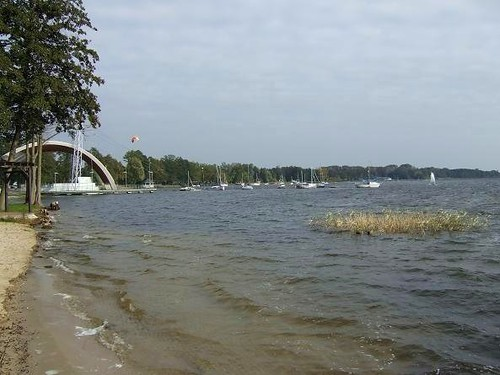 view of Lake Miedwie in Poland