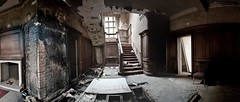 Abandoned Manor Panoramic of the staircase lobby (Ogof. (Mike McLean)) Tags: abandoned derelict manorhouse abandonedmanorhouse