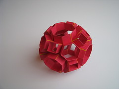 Heinz Strobl Snapology Truncated Cuboctahedron (Stephen's Origami) Tags: origami paperfolding modularorigami unitorigami snapology heinzstrobl paperstrip