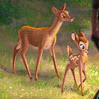Baby Bambi & His Mother
