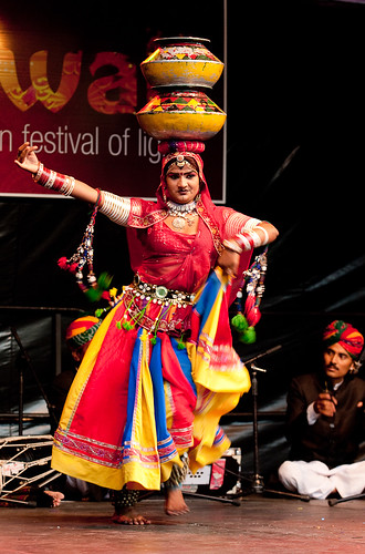 Rajasthani female dancer performs at Christchurch Diwali Festival