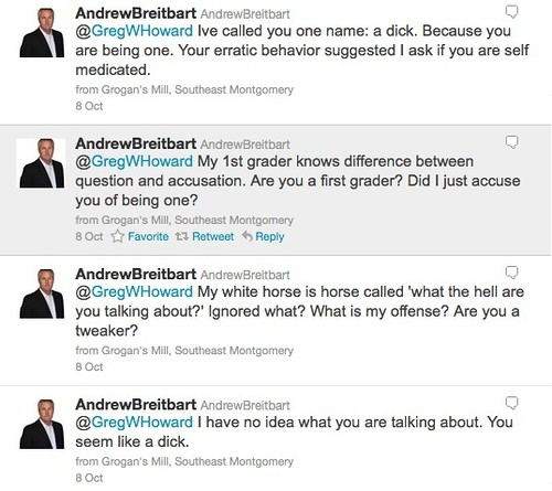 Breitbart calls Greg W Howard a dick