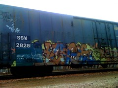 SSW  Stamp (+PR+) Tags: railroad streetart trains huge spraypaint optimist railfan freight boxcars railcars reefer dtc kyt rollingstock plantrees armn reefers benching