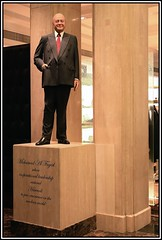Wax statue inside Harrods of former owner Mohamed Al Fayed. (Sid the Kid2010) Tags: london harrods waxstatue mohamedalfayed