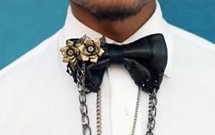 Robot and Brucling fashion leather bow tie 5