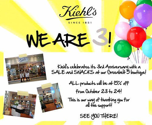 Kiehl's 3rd Anniversary Sale in the Philippines