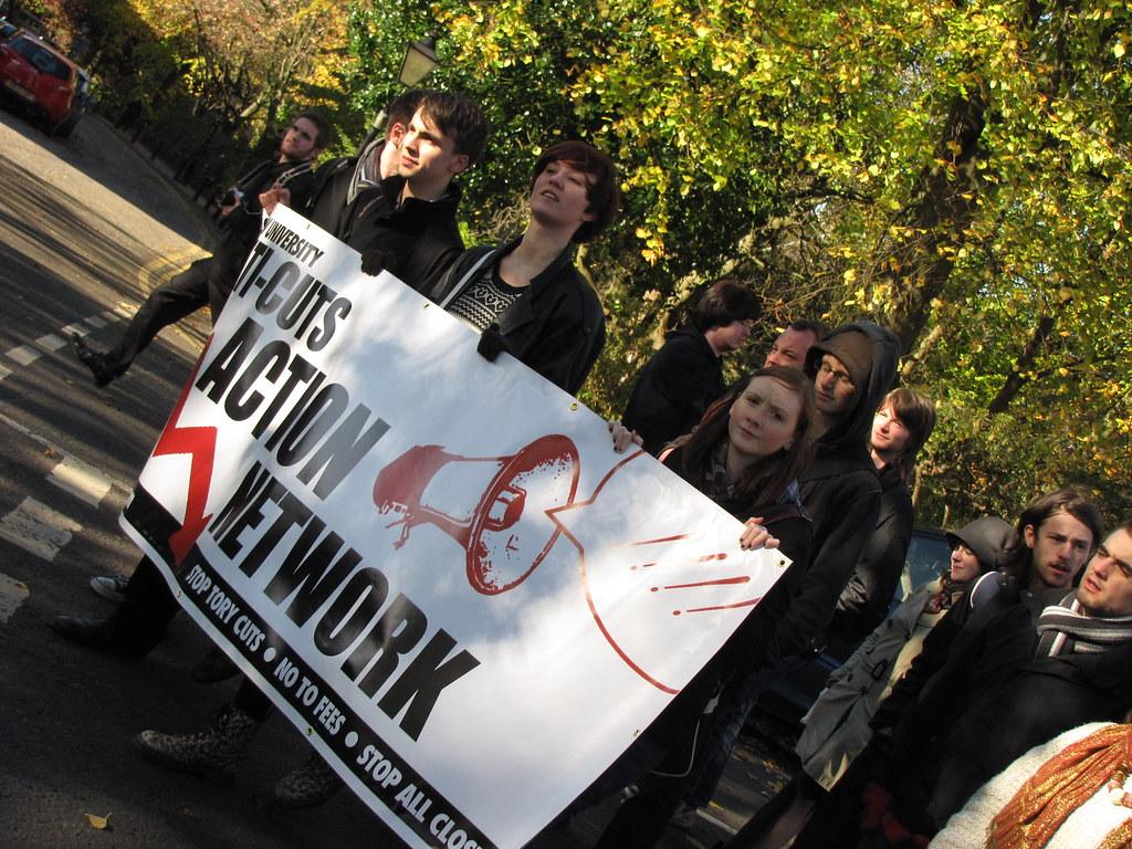 No Cuts! No Fees! Protest March