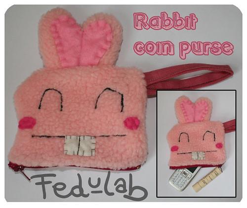 Rabbit coin purse