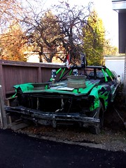 Demolition Derby Car - Buick (dave_7) Tags: chevrolet 1969 car demolition impala derby lethbridge