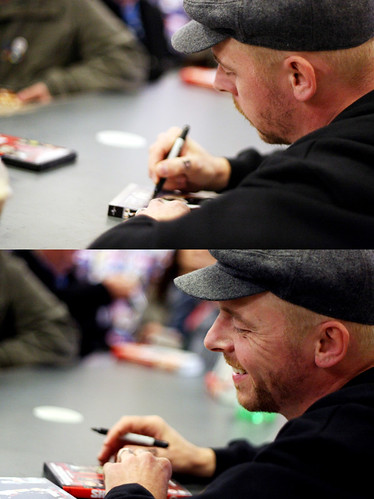 Simon Pegg - Forbidden Planet signing