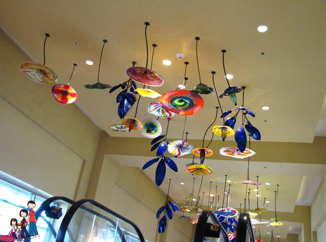 Glass Art in the Convention Area