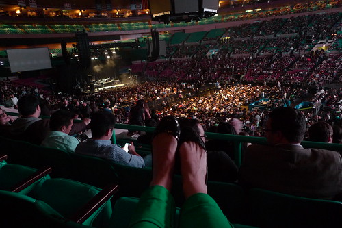 my feet and madison square garden