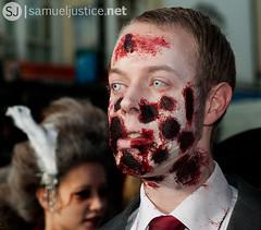 (samueljustice.net) Tags: city beach halloween make up flesh dead 50mm blood nikon october brighton zombie walk makeup gore horror undead 30th 1855mm 2010 botd d90 beachofthedead brightonzombiewalk2010