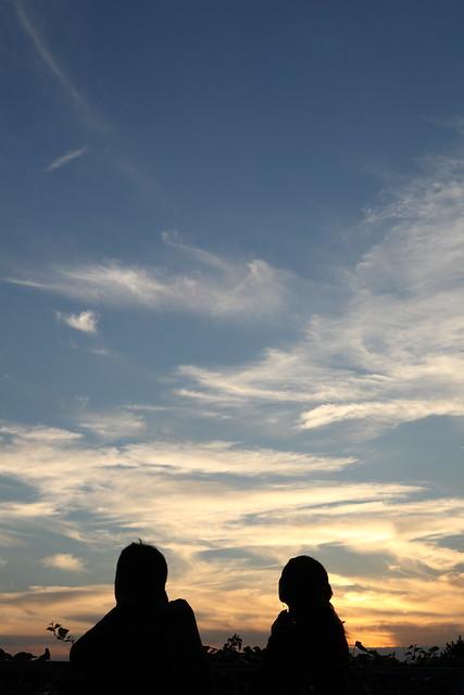 日没後の雲色
