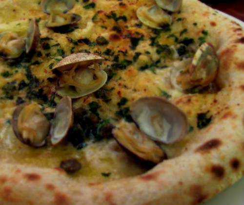 Pizza Vongole (Clam) at 2 Amy's