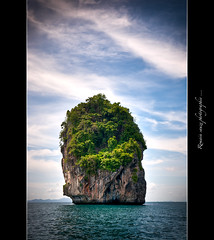 The Roc... Thalande (Romain sauze...come back ..) Tags: sea mer green water photoshop roc boat photo nikon eau long phi turquoise tail vert bamboo bleu asie kho wacom hdr rocher couleur palette thailande lightroom 1755 d300 lr3 graphique pdv cs5 romainsauze