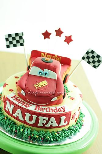McQueen 3D Cars Cake - Naufal