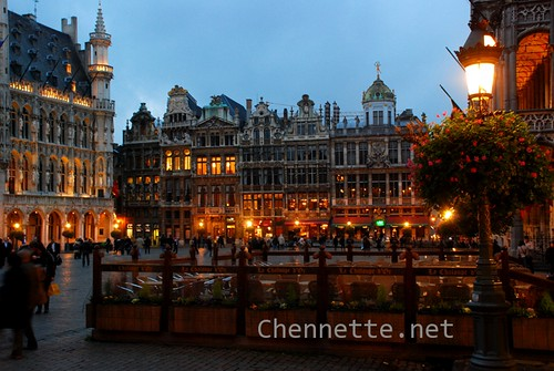 Grand Place in lights