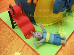 GUMPASTE AUSTIN (CAKES BY SUE) Tags: gumpaste childrenscake fondantcake tieredbirthdaycake backyardiganscake childrenbirthdayparties backyardigansthemedparty backyardigansdecoration