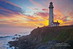 California Dreaming - Sunset at Pigeon Point Lighthouse 138th Anniversary! (Darvin Atkeson) Tags: ocean california light sunset sea vacation lighthouse house point surf pacific dusk pigeon shore darvin tourisim atkeson darv liquidmoonlightcom thepowerofnow