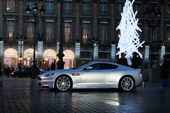 Christmas is soon! ([ JR ]) Tags: auto christmas light paris car canon silver weihnachten eos 350d grey gris hotel place martin decoration noel jr palace exotic ritz lightning luxury luxe aston kerst dbs vendome fialeix