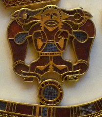 Sutton Hoo Ship Burial, Purse Lid detail with Wolves
