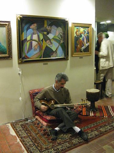 musician at Habib's opening
