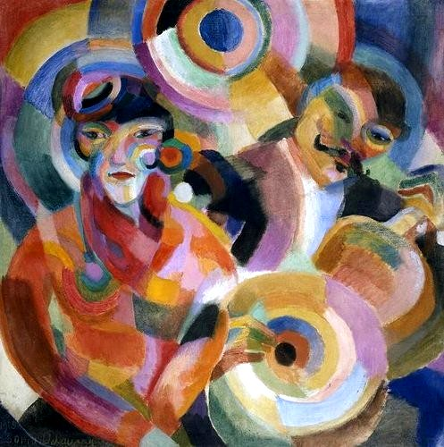 Delaunay-Terk, Sonia (1885-1979) - 1915 Flamenco Singer (Private Collection)