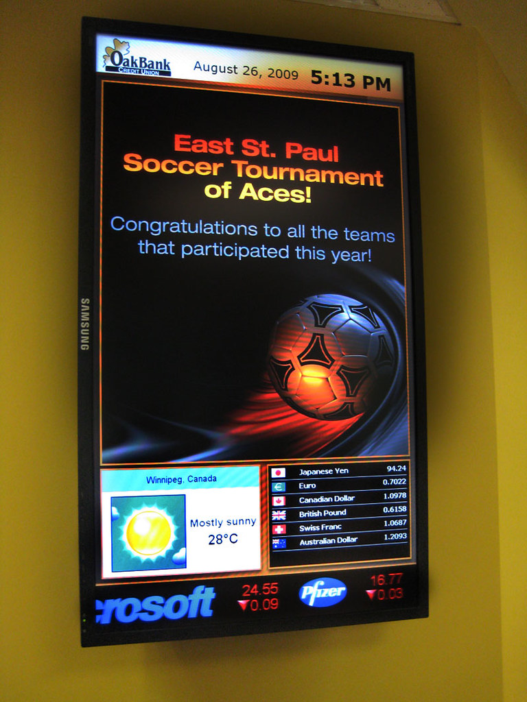 Oak Bank Credit Union Digital Signage