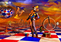 joker poker (lennyart) Tags: art contemporary surrealism paintings rene chess surreal magritte salvador dali