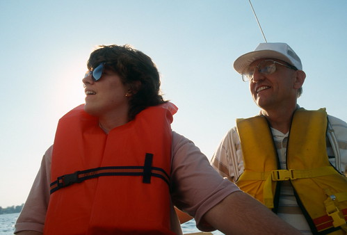 Kelli and Larry on Lake Wawasee by The Bacher Family