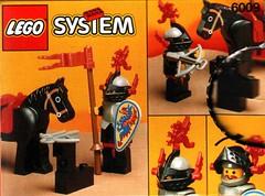 6009 Turnierritter / Black Knight (Jojo ()) Tags: castle lego scan sets collecting burg blackknights alternativemodels schwarzedrachenritter